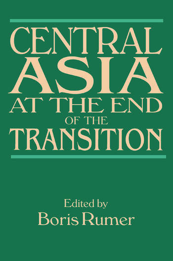 Central Asia at the End of the Transition book cover