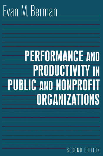 Performance and Productivity in Public and Nonprofit Organizations book cover