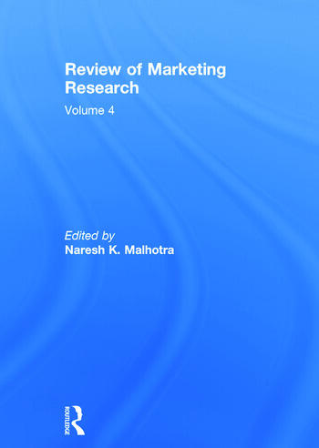 Review of Marketing Research Volume 4 book cover