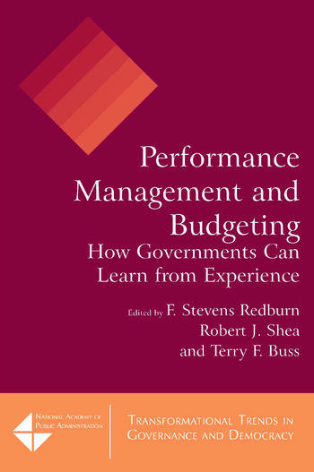 Performance Management and Budgeting How Governments Can Learn from Experience book cover