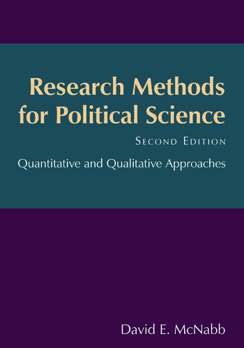 Research Methods for Political Science Quantitative and Qualitative Methods book cover