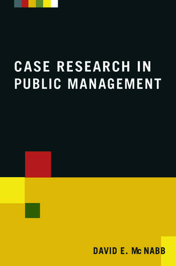 Case Research in Public Management book cover