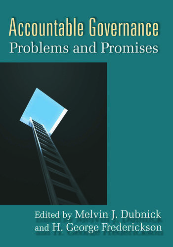 Accountable Governance Problems and Promises book cover