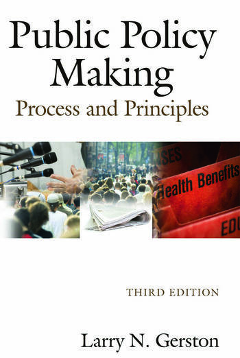 Public Policy Making Process and Principles book cover