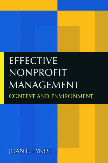 Effective Nonprofit Management Context and Environment book cover