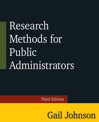 Research Methods for Public Administrators Third Edition book cover