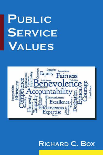 Public Service Values book cover