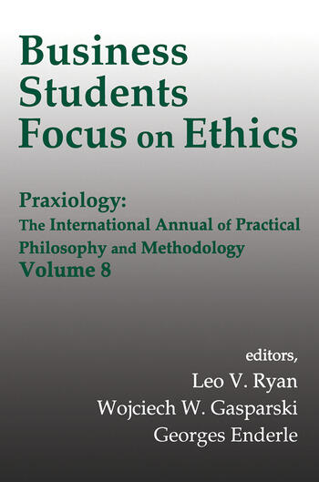 Business Students Focus on Ethics book cover