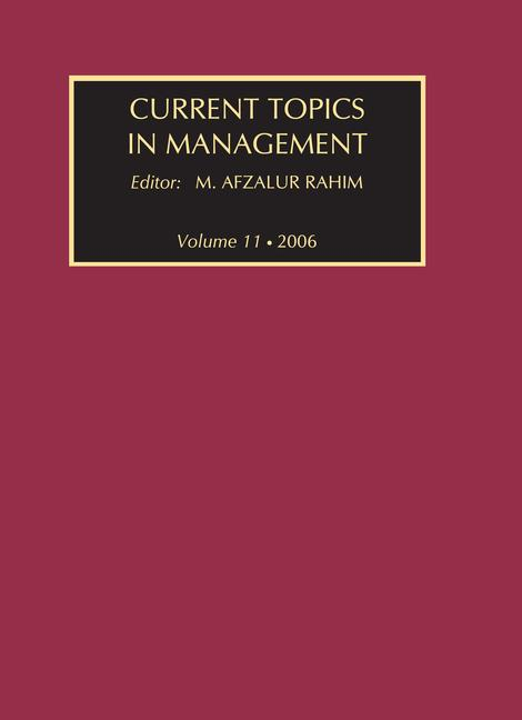 Current Topics in Management Volume 11 book cover