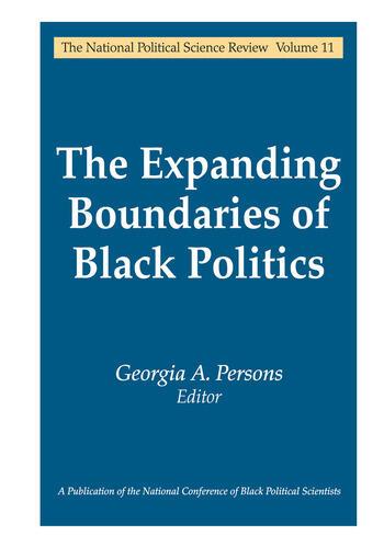 The Expanding Boundaries of Black Politics book cover