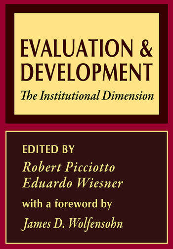 Evaluation and Development The Institutional Dimension book cover