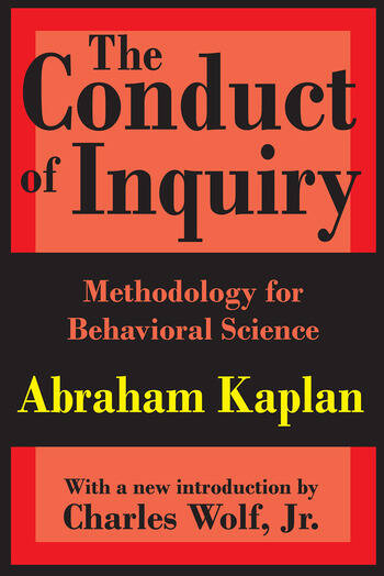 The Conduct of Inquiry Methodology for Behavioural Science book cover