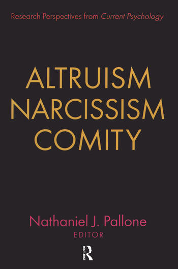 Altruism, Narcissism, Comity book cover