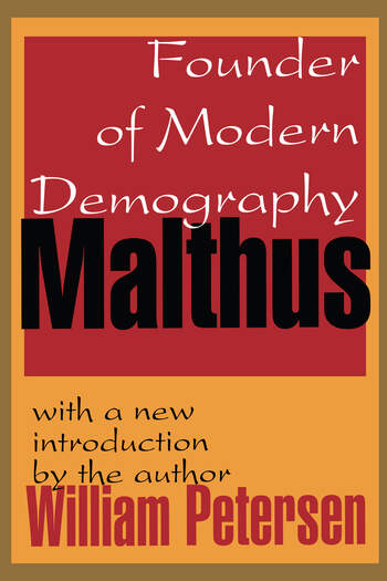 Malthus Founder of Modern Demography book cover