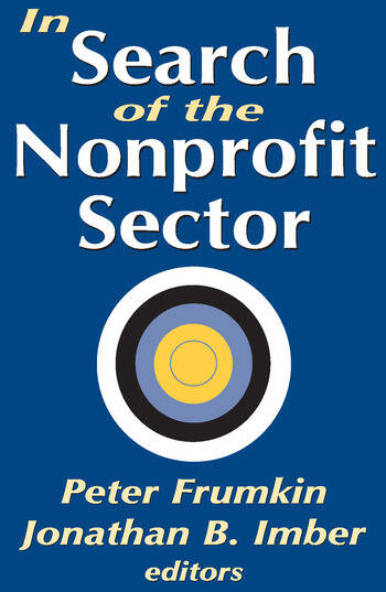 In Search of the Nonprofit Sector book cover