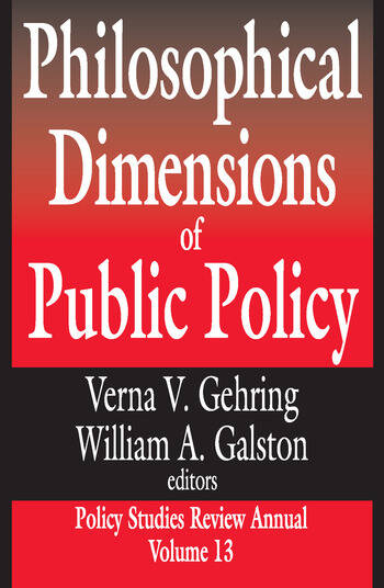 Philosophical Dimensions of Public Policy book cover