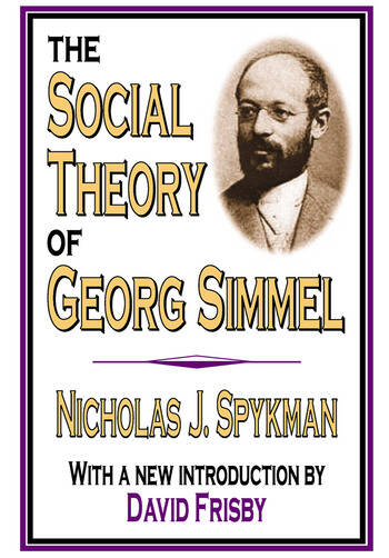 The Social Theory of Georg Simmel book cover