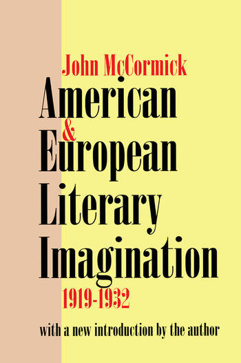 American and European Literary Imagination book cover