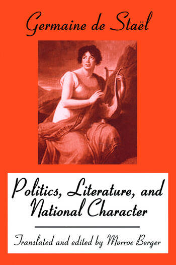Politics, Literature and National Character book cover
