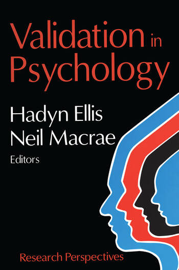 Validation in Psychology Research Perspectives book cover