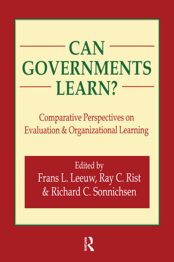 Can Governments Learn? Comparative Perspectives on Evaluation and Organizational Learning book cover