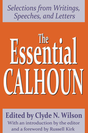 The Essential Calhoun book cover