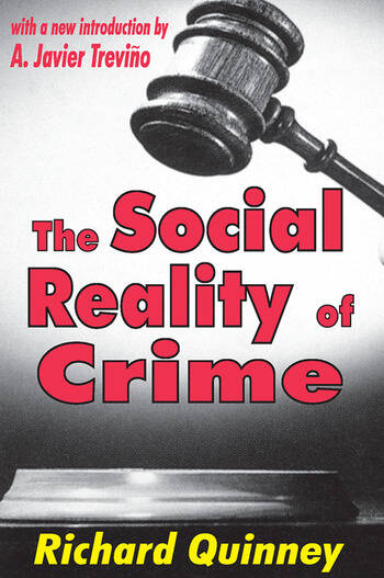 The Social Reality of Crime book cover