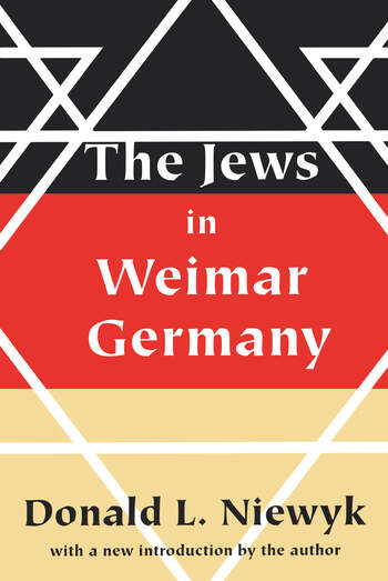 Jews in Weimar Germany book cover