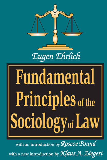 Fundamental Principles of the Sociology of Law book cover
