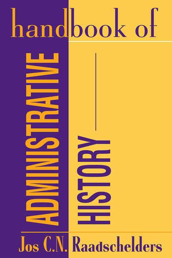 Handbook of Administrative History book cover