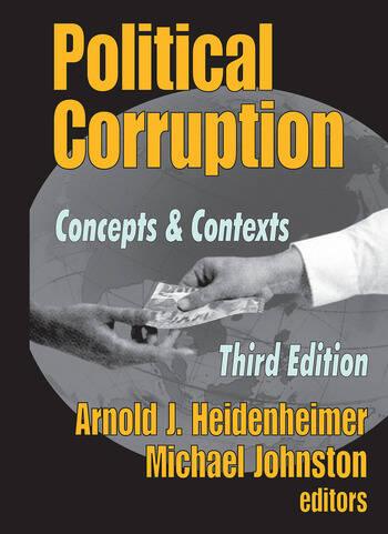 Political Corruption Concepts and Contexts book cover