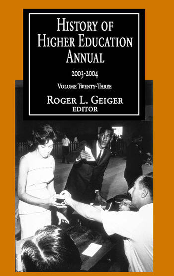 History of Higher Education Annual: 2003-2004 book cover