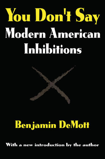 You Don't Say Modern American Inhibitions book cover