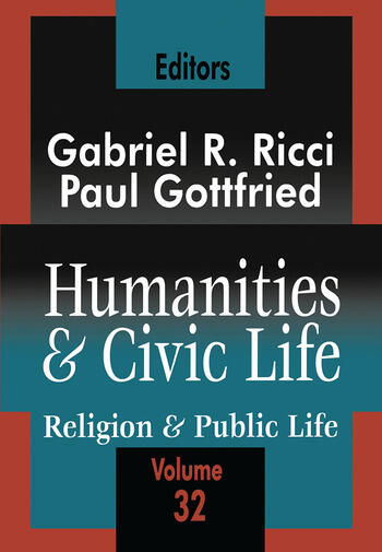 Humanities and Civic Life Volume 32 book cover