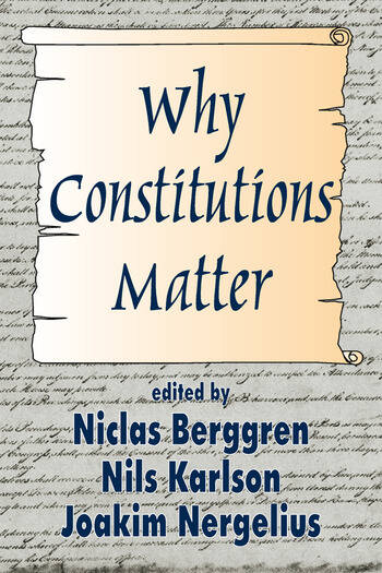 Why Constitutions Matter book cover