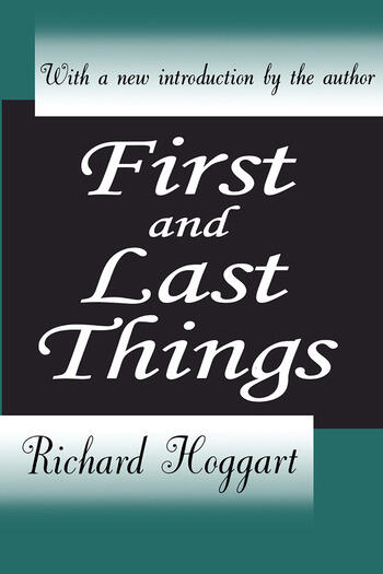First and Last Things book cover