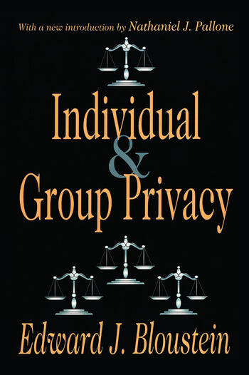 Individual and Group Privacy book cover