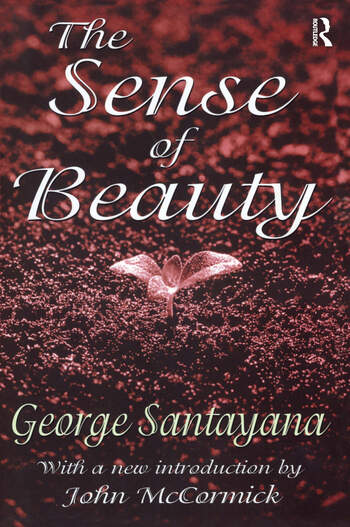 The Sense of Beauty book cover