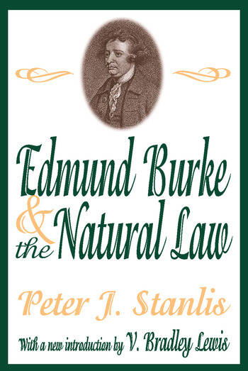 Edmund Burke and the Natural Law book cover