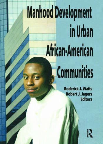 Manhood Development in Urban African-American Communities book cover