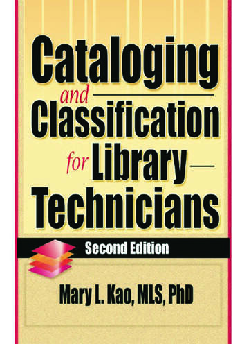 Cataloging and Classification for Library Technicians, Second Edition book cover