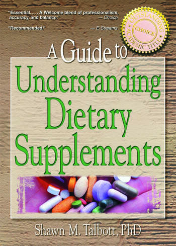 A Guide to Understanding Dietary Supplements book cover