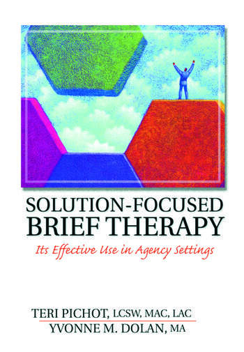 Solution-Focused Brief Therapy Its Effective Use in Agency Settings book cover