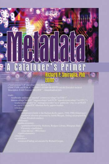 Metadata A Cataloger's Primer book cover