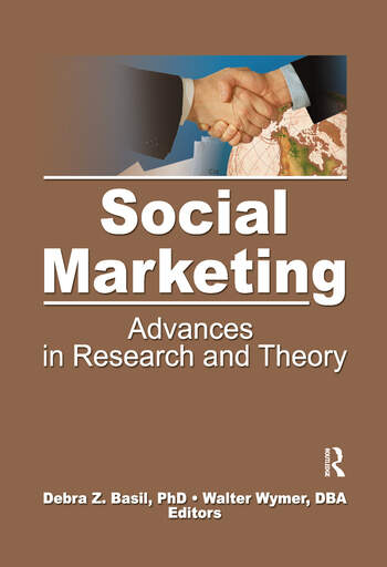 Social Marketing Advances in Research and Theory book cover