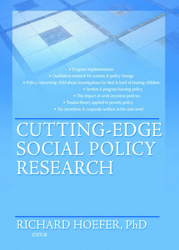 Cutting-Edge Social Policy Research book cover