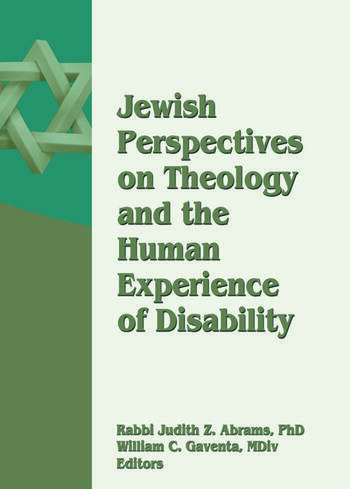 Jewish Perspectives on Theology and the Human Experience of Disability book cover