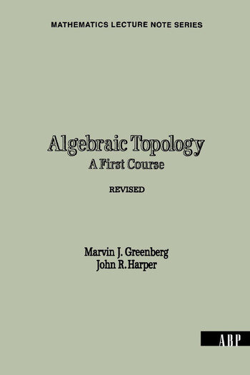 Algebraic Topology A First Course book cover