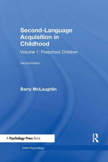Second Language Acquisition in Childhood Volume 1: Preschool Children book cover