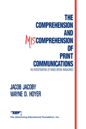 The Comprehension and Miscomprehension of Print Communication book cover